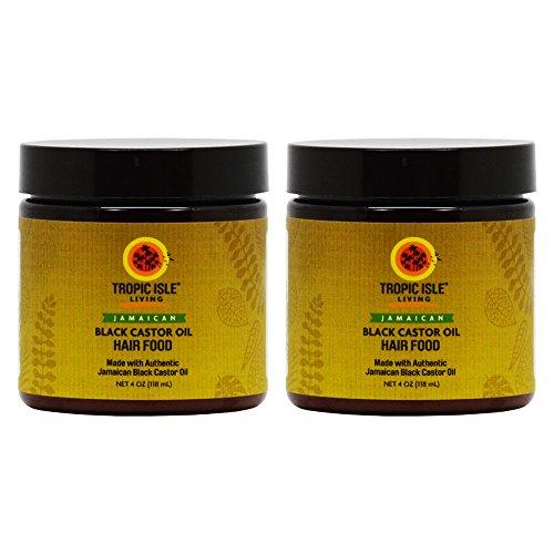 Tropic Isle Living Jamaican Black Castor Oil Hair Food 4 oz (Pack of 2)