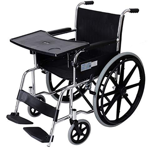 SUSHOP Rollstuhl-Tisch- Tablett,Universal Abnehmbar Betttisch Laptoptisch Rollstuhl Tablett Tisch Stuhltisch