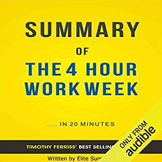 The 4 Hour Work Week, by Timothy Ferriss audiobook cover art