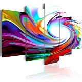 murando Cuadro en Lienzo Colorido Ola 200x100 cm Abstracto Impresión de 5 Piezas...