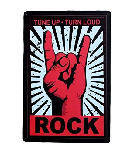iTemer 1 Unidades Creativo Retro decoración de Metal Poster Hierro Pintura Hotel Comedor decoración Poster Pintura de Metal 20 * 30cm Rock