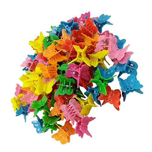 Schmetterlings-Haarspange, mehrfarbig, 100 Stück