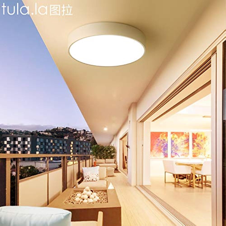 Kurze moderne Balkon führte Deckenleuchte Zimmer, 25cm weie Schale monochromatische weies Licht