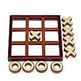 Qians TicTacToe Toy XO Wooden Chess Kids Puzzle Game Juego de Mesa Familiar Alegre Juguete Educativo Ideal para Noches de Juegos para niños y familias Beneficial