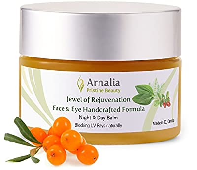 ARNALIA 100% Natural & Organic Wild Herbs, Eye & Face Cosmetic Skin Care Cream, Emollient, Anti Wrinkle, Anti Aging, Age Spot, Firming, Hydrating Balm, Collagen, Vitamin A,C,E,F Moisturizer, SPF(33ml)