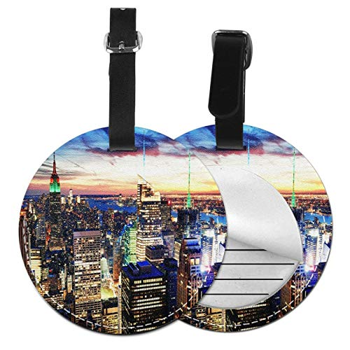 Etiquetas para Equipaje Bolso ID Tag Viaje Bolso De La Maleta Identifier Las Etiquetas Maletas Viaje Luggage ID Tag para Maletas Equipaje Skyline de la Ciudad de Nueva York 10