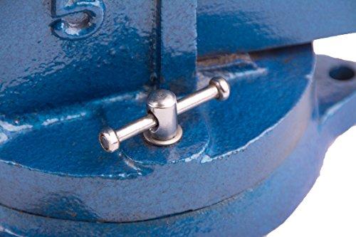 Robuster Schraubstock 100/125/150 mm für Werkbank 360° drehbar (Spannweite 125mm, Gewicht 7 Kg) - 3