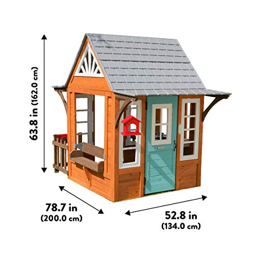 KidKraft 10179 Prairieview Wooden Outdoor Playhouse