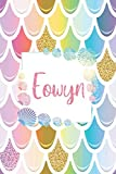 Eowyn: Personalized Name Floral Blank Lined Journal For Mermaid Lover Girls And Women