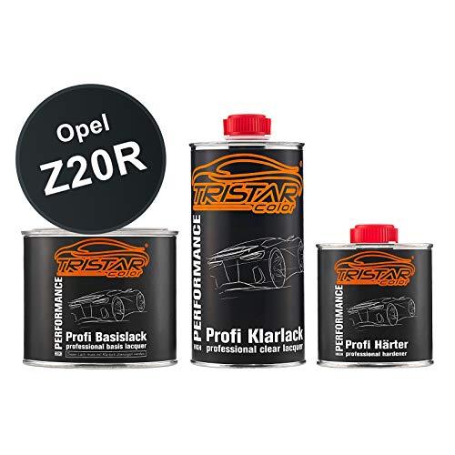 TRISTARcolor Autolack Set Dose spritzfertig für Opel Z20R Saphirschwarz Metallic/Black Sapphire Metallic Basislack + 2K Klarlack 1,25L