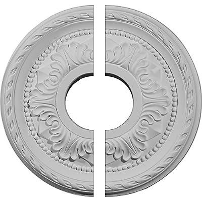 Ekena Millwork 12 1/8-Inch OD x 3 5/8-Inch ID x 1-Inch Palmetto Ceiling Medallion