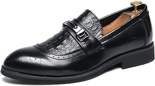 2018 Herrenschuhe, Klassische Leder Business Schuhe, Frühling Herbst Formale Spitz Schuhe, Kleid Party Schuhe, Loafer Schuhe (Farbe   B, Größe   40) (Farbe   B, Größe   45)