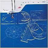 YICBOR New Ruler Template Sampler Set for Domestic Sewing Machine 1 Set = 6pcs #RL-06 (5.6mm)