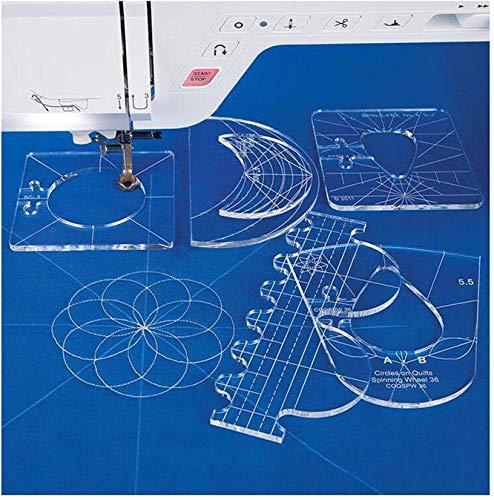 YICBOR Lineal Vorlagen Quilting Vorlagen Musterset für Heimwerker-Nähmaschine RL-06(2.9mm)