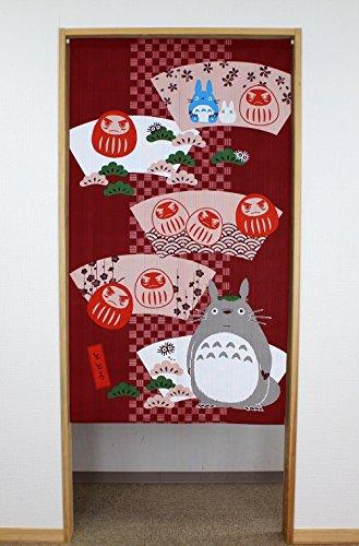 "Cosmos Studio Ghibli Mi vecino Totoro Noren (cortina japonesa) trae buena suerte serie ""Daruma muñeca"" 85x 150cm 10730"