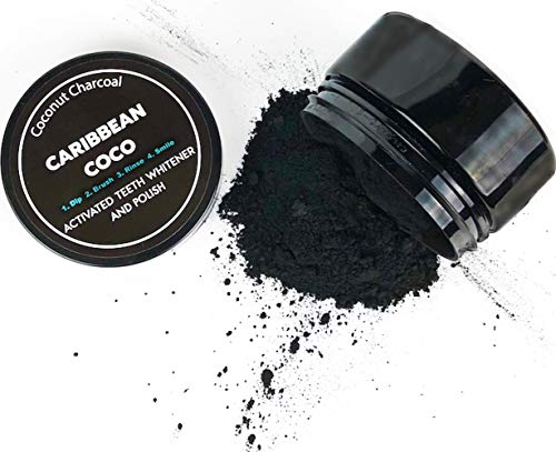 Caribbean Coco Charcoal Toothpaste - Activated Charcoal Teeth Whitening Powder - Organic Natural Toothpaste - Carbon Coconut Formula - Made in The USA