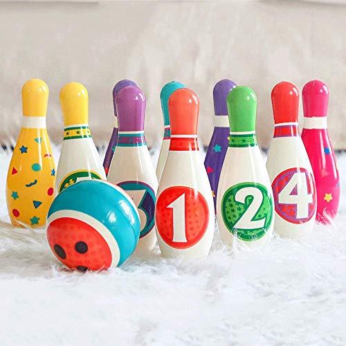 Juguetes de bolos infantiles, 6 números + 6 combinaciones de colores, juguetes de educación temprana, bolos para niños y adultos, regalos de juguetes interiores y exteriores para niños y niñas