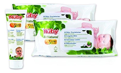 Nûby All Natural cgpack3 Baby Kit d'entretien Blanc