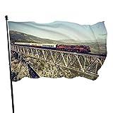 smartgood Alte Zugfahne 3x5 Ft große genähte Polyester-Fahne außerhalb hängende Standardflagge...