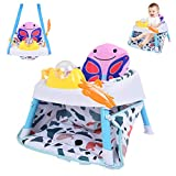 Brakites Baby Seat Jumping Chair, 2-in-1 Sit-up Floor Seat & Infant Activity Seat with Happy Gondola - Easy Assembly of Toy Seat for Boys and Girls (Multicolour)