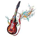 Shayson 4 Cuerdas música eléctrico Guitarra, Guitarra eléctrica niños niños bebé Musical Instrumentos Juguete de Regalo para bebé niño (Rojo)(Regalo del día de la Madre)