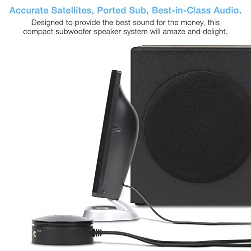 Cyber Acoustics 2.1 Subwoofer Speaker System with 18W of Power – Great for Music, Movies, Gaming, and Multimedia…