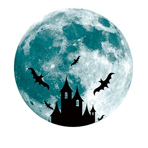 30cm Luna Pared Pasta Fluorescente Luna Ciclo Resplandor Castillo de la Luna de 30cm