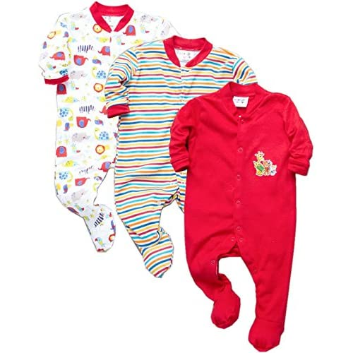 f66eb8103a8b Tinchuk Cotton Multi Color Romper Body Suite for New Born Baby Pack of 3