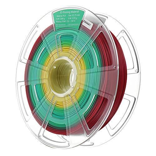 TONGDAUR Imprimante 3D 1,75 mm 1KG Filament PLA Multicolore Matériaux d'impression 3D