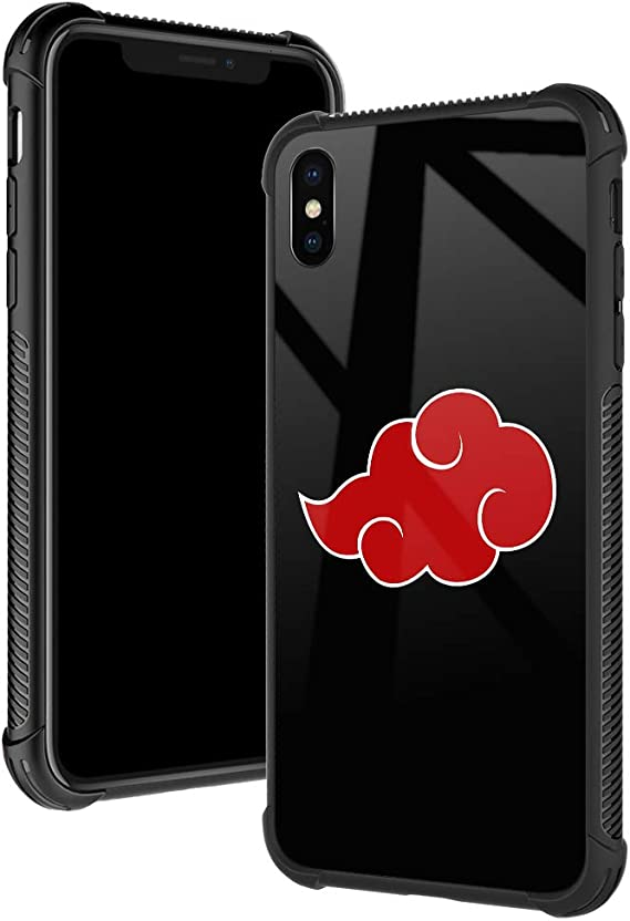 TnXee iPhone Xs Case,Red Cloud iPhone X Cases for Boys/Men,Fashoin Design Four Corners Shock Absorption Non-Slip Stripe Soft TPU Bumper Frame Case for iPhone X/Xs 5.8 inch