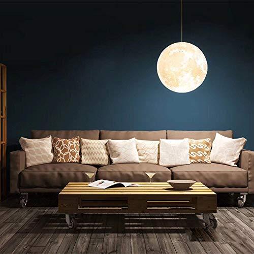 AXDNH Moon Light, Lustre de décoration de Noël 16 Couleurs Lampe de Nuit Impression 3D Lampe de Lune USB Charge Lune Lampe de Table Dames Cadeau d'anniversaire télécommande (avec Base en Bois),15CM