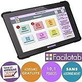 FACILOTAB Tablette L Onyx 10,1 Pouces WiFi/4G - 32 Go - Android 7 (Interface simplifiée pour Seniors)