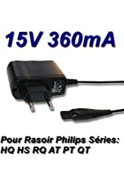 Cargador Corriente 15V Reemplazo Afeitadora Philips Philishave HQ7415 Recambio Replacement