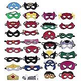 Xueliee - Máscaras de superhéroe, 32 Unidades, superhéroes, máscaras de Fiesta, para niños o niños Mayores de 3 años