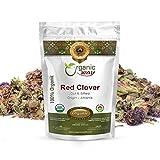 Organic Way Dried Red Clover Cut & Sifted (Trifolium pratense) - European Wild-Harvest | Organic & Kosher Certified | Raw, Non GMO & Gluten Free | USDA Certified | Origin - Albania (1LBS / 16Oz)