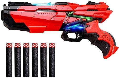 StillCool - Pistola de juguete con dardos de espuma compatible con las pistolas Nerf con 6 piezas de recambio de espuma EVA suave
