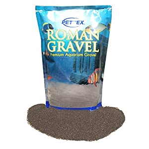 Pettex Roman Gravel Aquatic Roman Gravel, 2 Kg, Black Sand