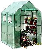 YAOJIA invernaderos Jardin Resistente Invernadero Portátil Al Aire Libre con Patio Y Jardín con Puertas Y Ventanas, Invernadero Impermeable para Plántulas, Flores, Cultivo De Plantas