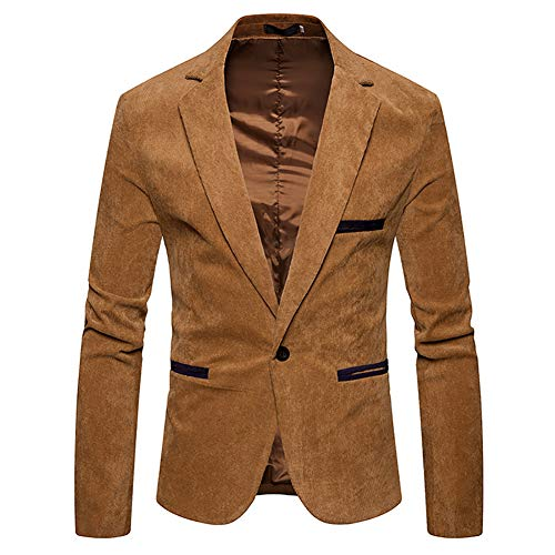 Heren vrijetijdspak, Fashion Cord kleur bijpassende jas, Fashion Slim Fit blazer bruiloft prom party smoking mantel