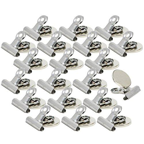 8 imanes con pinzas clip ultra potentes y con orificio para ganchos  o colgar objetos