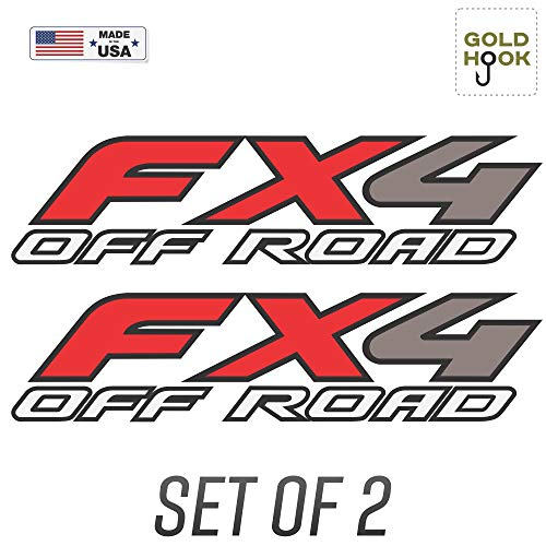 GOLD HOOK Set of 2-2003 Ford F150 FX4 Off Road Decals F Truck Stickers Bed Side Graphic