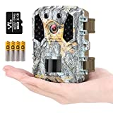HAWKRAY Mini Trail Game Camera-M2, 20MP 1080P,Free 32GB SD Card and 4AA Batteries,Game Camera Infrared Sensors 120° Low Glow IR Night Vision Motion Activated,2' LCD,IP65 Waterproof