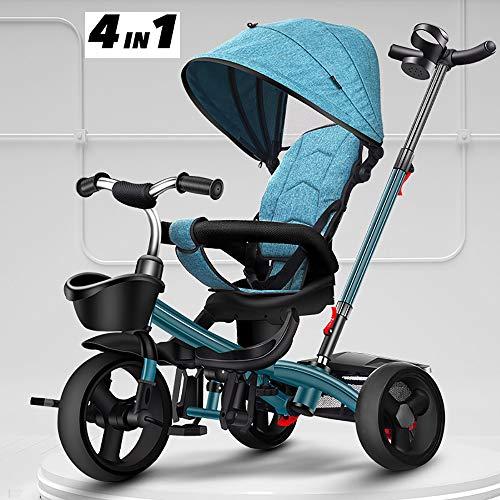 Triciclos Bebes 4 en 1 Triciclo Niños Adecuado Mayores de 12 Meses - 5 años Capacidad de Carga 30KG