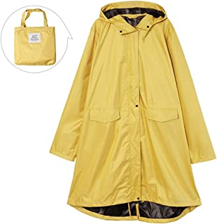 LPFMM Windbreaker Rainproof Sunshade Multi-Function Raincoat, Thick Hooded Raincoat, Raincoat with Storage Bag (Yellow, Pink) Raincoat (Color : Yellow, Size : XL)