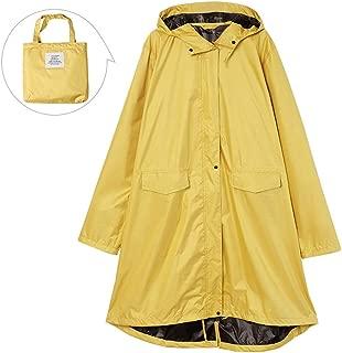 LPFMM Windbreaker Rainproof Sunshade Multi-Function Raincoat, Thick Hooded Raincoat, Raincoat with Storage Bag (Yellow, Pink) Raincoat (Color : Yellow, Size : XL)