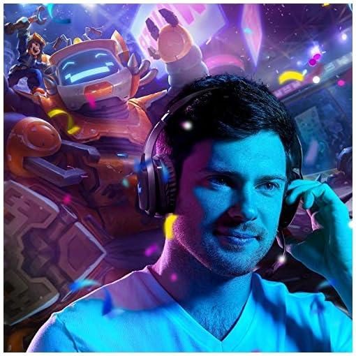 REDSTORM Auriculares Gaming PS3, Cascos Gaming con Micrófono Volteable, 7.1 Sonido Virtual Surround, RGB Luz, Peso… 6