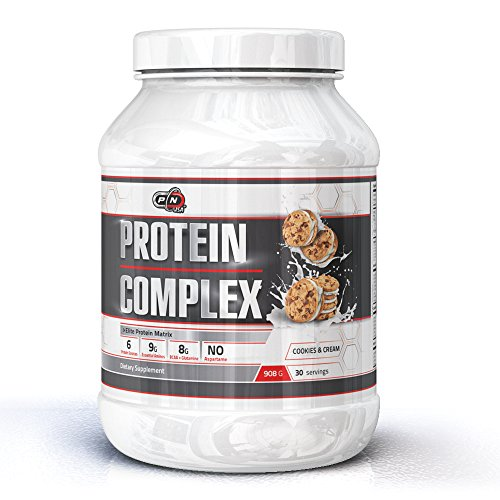 WHEY Protein Complex|Elite Multi Component All in One Protein Matrix|6 Protein Sources|Milk Egg Micellar Casein Whey, Whey Isolate & Hydrolysate|9g Essential Aminos|8g BCAA(Cookies & Cream,908g)