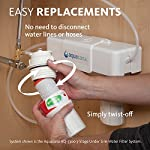 Aquasana AQ-5200.55 2-Stage Under Sink Water Filter System with Brushed Nickel Faucet 23 Removes up to 99% of 77 contaminants including lead, mercury, asbestos, herbicides, pesticides, pharmaceuticals, and more Nothing added and zero waste - no water is wasted and no harmful contaminants are added to your water during filtration Only 10 cents per gallon - 12 times the capacity of the leading gravity pitcher. Healthy, clean water for less