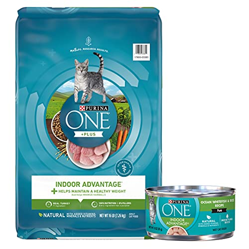 Purina ONE Natural, Senior Dry cat Food and Wet cat Food, Indoor Advantage Bundle Pack