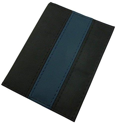 Tarjetero para Documentos y Tarjeta de crédito 6 Bolsillos (Negro/Azul)